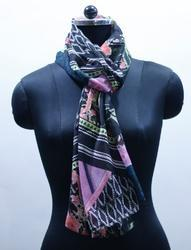 EGSC0009 Abstract Print Cotton Scarf