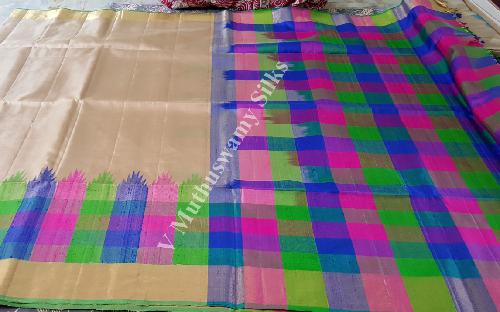 Exporter of Soft Silk Sarees & Pure Silk Sarees by V  M  Silk