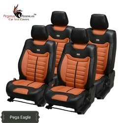 Pegasus Premium Black and Orange Velvet Car Seat Cover