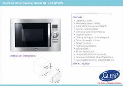 Microwave Oven Model inbuilt in Modular Kitchen