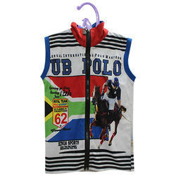 Polo Neck Sleeveless Kids T-Shirt Digital Printing Service