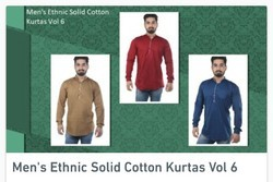 Men's Ethnic Solid Cotton Kurtas
