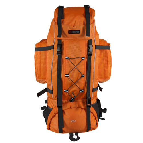 Bleu Orange and hiking lightweight travel rucksack backpack- 75 l