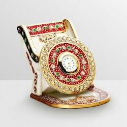 Mobile Stand Embossed Golden Painted Work.