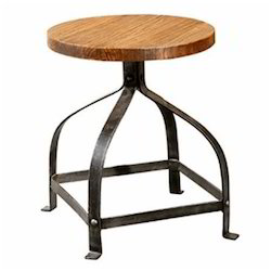 SS And Wooden Stool