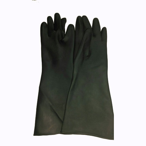 Safety Black Rubber Gloves