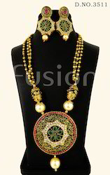 Traditional Antique Ruby Pendant Set