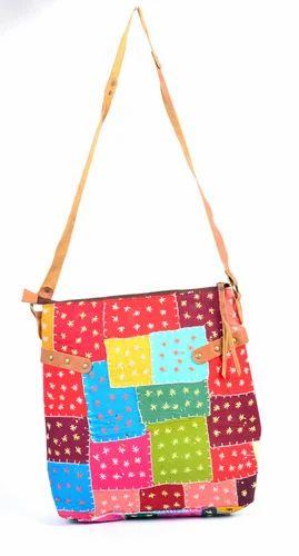 Handmade Multicolor Patch Work Size Handbag
