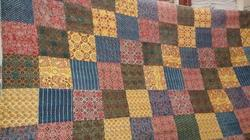 Ajrkh Print Patch Kantha, Gudri Hand Stitched Quilts