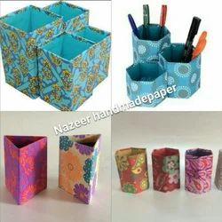 Handmade Paper Pen Stand, Size: 3x5