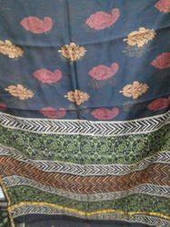 Patri Print Silk Saree