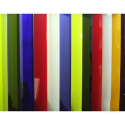 Colored Lacquered Glass