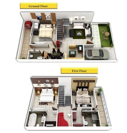 Remarkable Floor Plan For Duplex House Contemporary Best