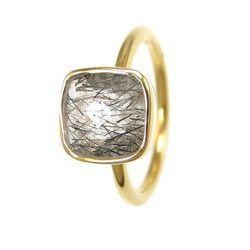Black Rutile Gemstone Ring