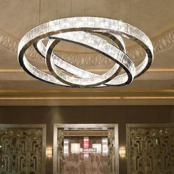 LED Brass Ring Shaped Chandeliers