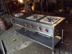 Steel Burner Range, Size: 6ft*2ft*2.8ft