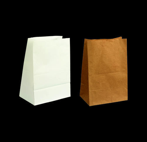 Small Flat Bottom Strong Paper Bags Without Handle