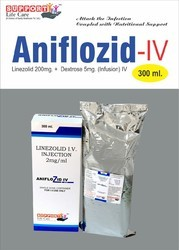 Linezolid 200mg, Dextrose 5gm/300ml Injection