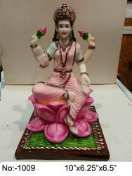 Muticolor Polyresin Laxmi Statue, For Decoration, Size: 10 X 6.25 X 6.5