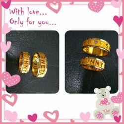 Gold Unisex Jewellery Wedding Ring