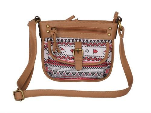 Women S Printed Fashion Canvas Sling Bag Multi Kkcl001