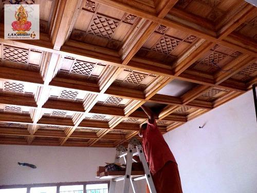 Wood Ceiling Works Laxmisri Handicrafts Amp Interiors