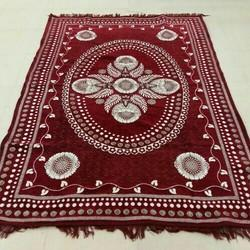 Rectangular Red Shaneel Galicha, For Home, Size: 54x84 Inch
