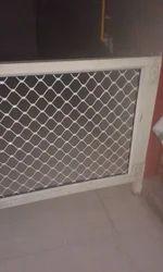 Silver Aluminium Door