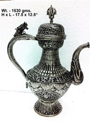 White Metal Antique Surahi