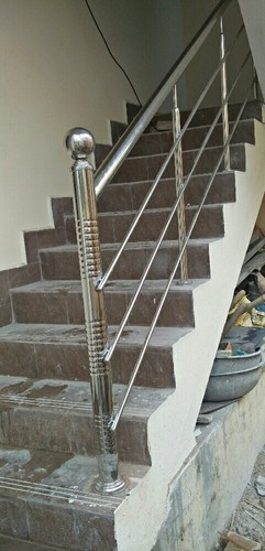 Silver 12mm Stainless Steel Staircase Railing, For House ...