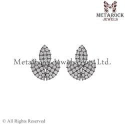 New Designer Silver Diamond Earring Jewelry
