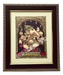 Narthana Vinayagar Tanjore Painting