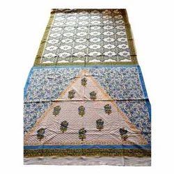 Cotton Silk Printed Saree with Blouse Piece, Saree Length: 5.5 m