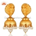 Natural Pearl Gold Plated Indian Traditional Earring Jewelry