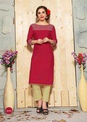 Beautiful Pure Cotton Linan Kurtis