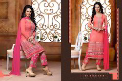 Colofull Diwali Embroidered Salwar Suit