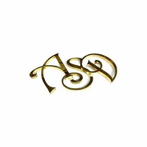 Stylish Brass Name Letter Brass Copper Metal Handicrafts