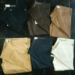 Cotton Chinos Mens Slim Fit Trouser