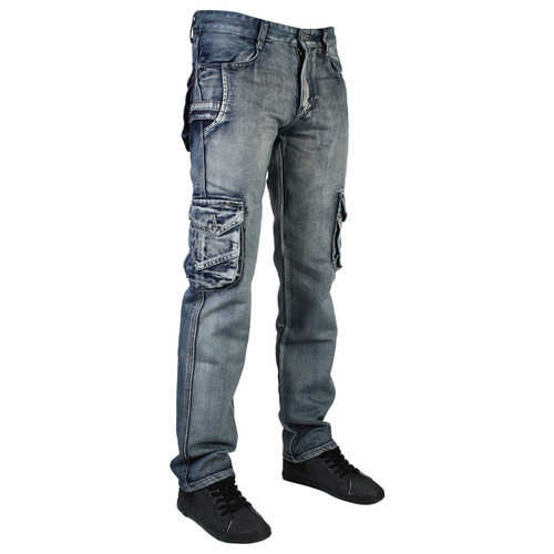35b6d8502b4feb Button Denim Cargo Jeans, Waist Size: 28-38, Rs 650 /piece | ID ...