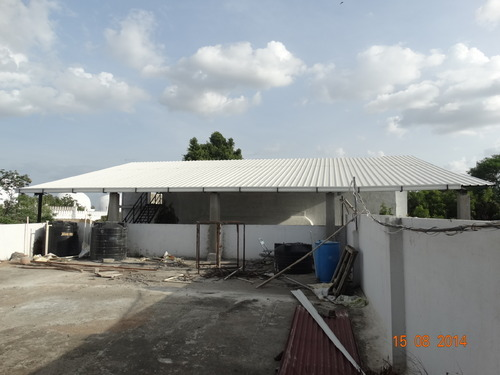 Sandwich Puf Roofing Structure At Rs 415 Square Feet Sandwich Puf Panel Id 10446036388