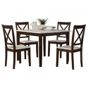 Atrium Rustic 5 Piece Dining Table Set