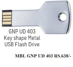 Key Shape Metal USB Flash Drive