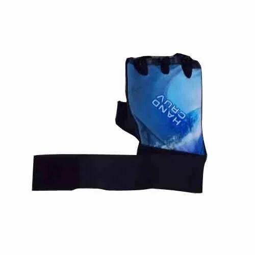 Black & Blue Hand Cruv Leather Gym Gloves