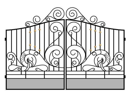 Mild Steel Grill Gate Ms Gate मइलड सटल गट