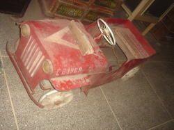 Vintage Rustic Metal Baby Car