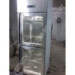 Two Door Glass Refrigerator