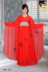 Red Trendy Kaftan