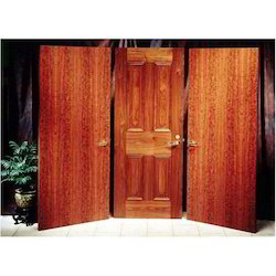 Wood Polished Brown Interior Flush Door, For Home, Size: 2050 X 960 Mm