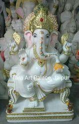 Pure Marble Ganpati Idol Ganesh Idol