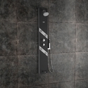 Amora Black Shower Panel